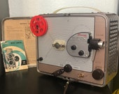 1950s Kodak Brownie 500 Movie Projector with Original Box and Instructions