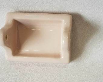Vintage…NOS…Crystal Green…Ceramic…Soap Dish with Grab Bar…The Fairfacts Co.
