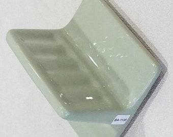 """BA-1106 Nice NOS Vintage Ceramic Bathroom Soap Dish Brown 5/"""" Wall Mount"""