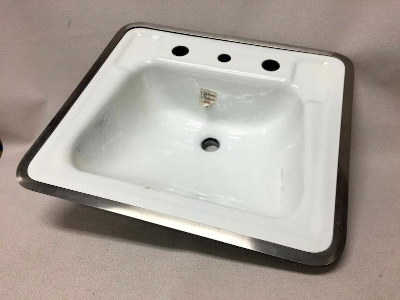 Bs 531 Nos American Standard White Lavatory Bathroom Cast Iron Etsy