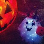 Baby ghost costume - Halloween costume -ghost costume with LED lights -kids ghost costume- ghost costume -Happy Ghost Costume - custom order