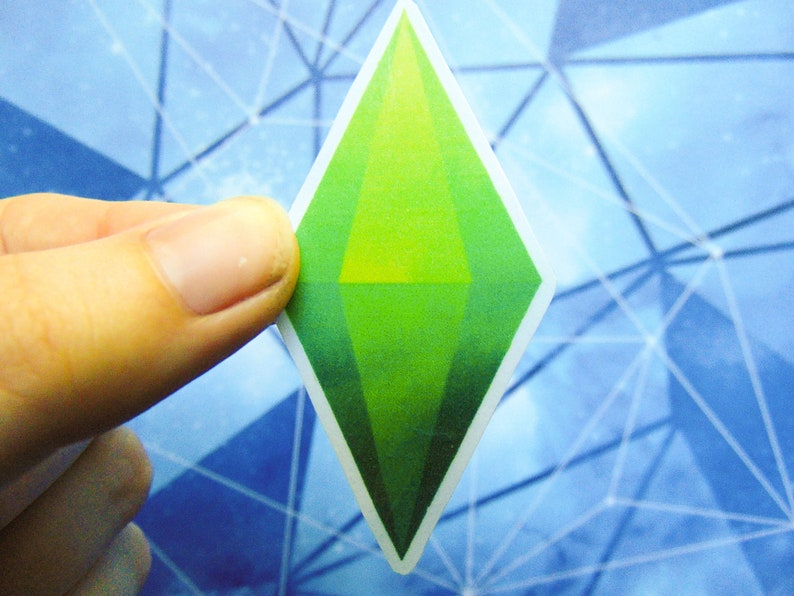 Sims Plumbob Stickers, Original Art, Video Games, Sims 4, Sims 3, Sims 4  decoration, Sims Sticker, Nerd Stickers