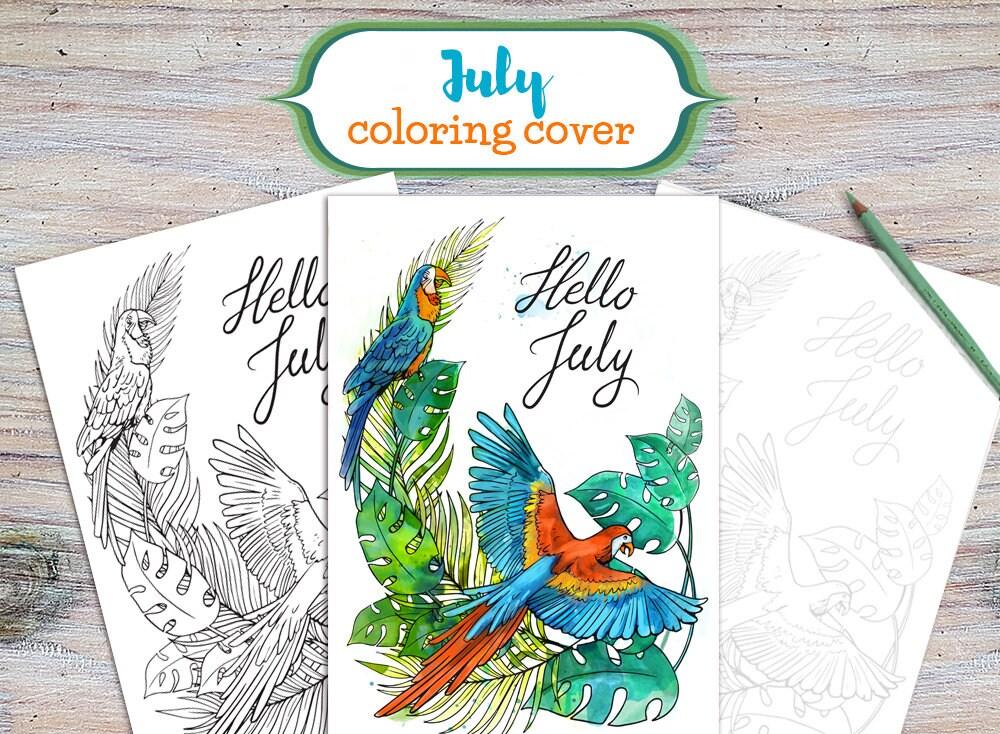 Juli-Abdeckung Hallo Juli Drucken für Färbung Juli Cover | Etsy