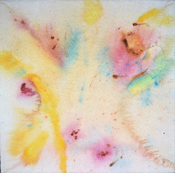 "Painting, watercolor, ""Explosion"""