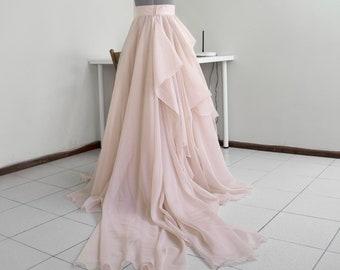 0c84d930e Nude bridal skirt Full wedding skirt Ball skirt Ceremony skirt Skirt train  Blush draped skirt Custom maxi skirt Wedding gown separate