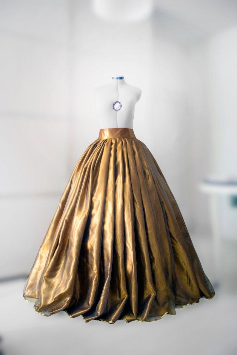 fddad508f7bf Goldish ball skirt Hoops skirt Full skirt Ball gown Organza   Etsy