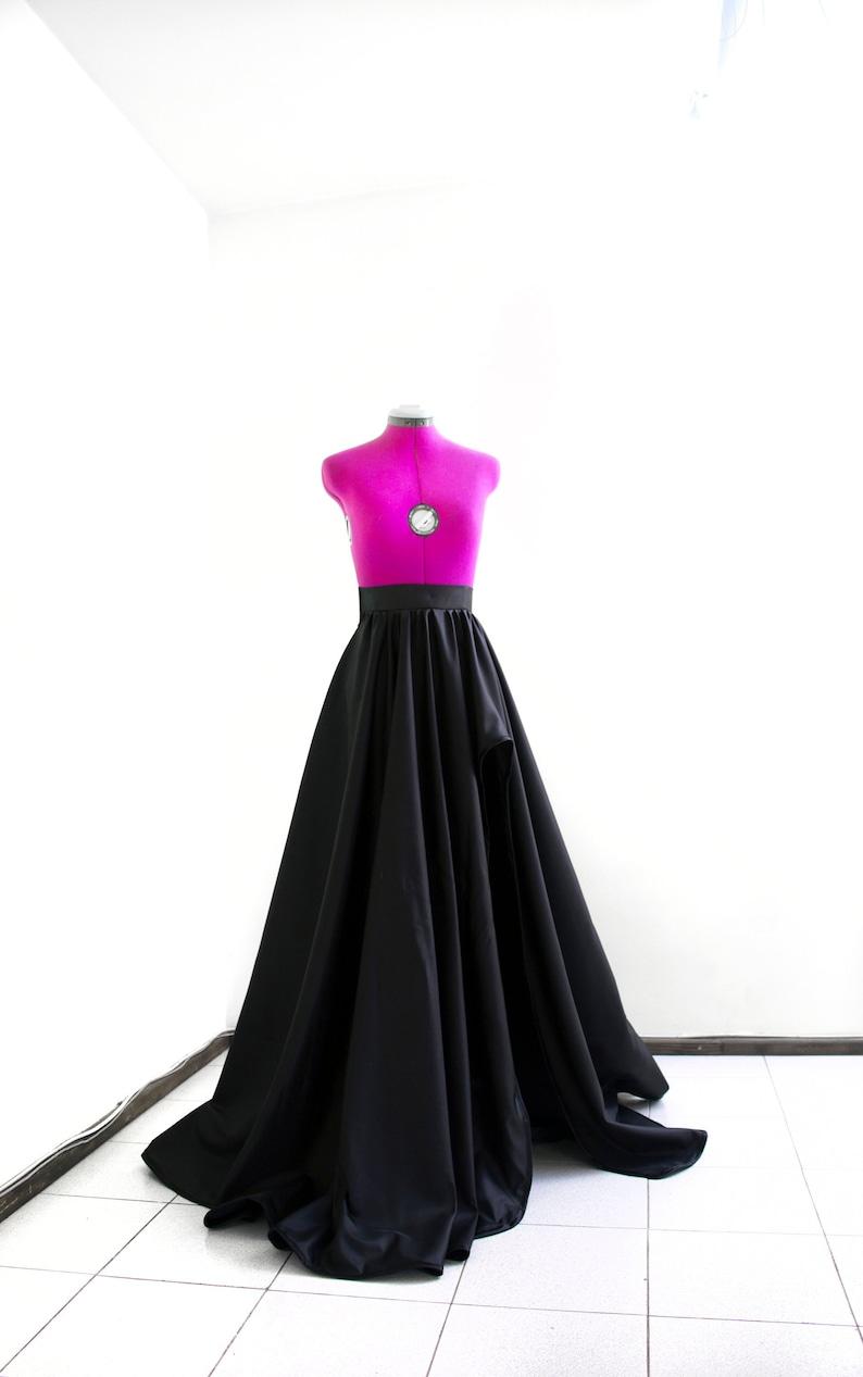 daa050855 Taffeta slit skirt Black ball gown Long sexy skirt Evening   Etsy