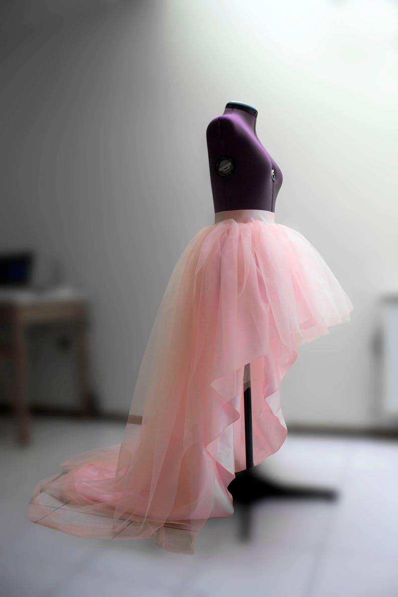 948faef8d7 Tutu High low tulle skirt Blush wedding skirt Ball gown skirt | Etsy