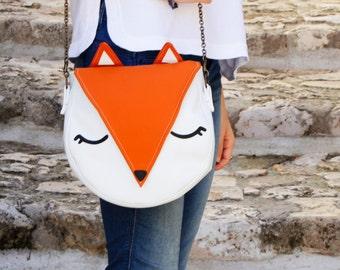 Fox shoulder bag - big size