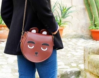 Bear shoulder bag - two sizes