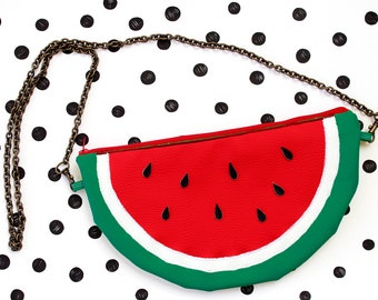 Watermelon slice - shoulder bag