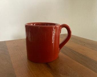 Vintage Small Coffee Mug- Red Ceramic Mug (PV 7686)