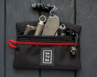 Pocket organizer - EDC pocket pouch organizer from Cordura. For keys, knifes, tools and flashlights. Different colors!