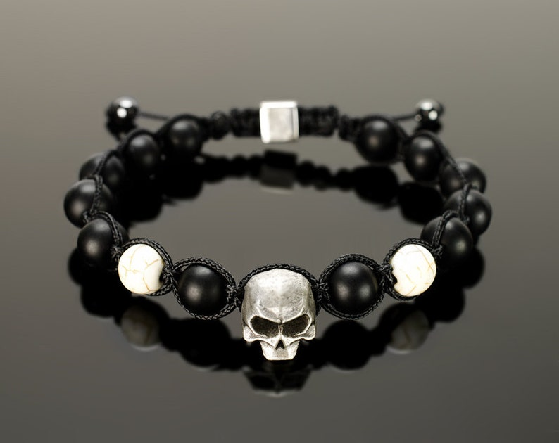 838d661e1480 Pulsera de onix negro joyería negra del onyx para los