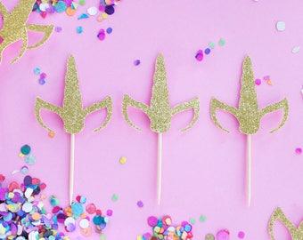 Unicorn Party, Unicorn Cupcake Toppers, Unicorn Horn, Unicorn Decor, Unicorn Birthday, Unicorn Decoration, Unicorn Cake, Unicorn Cupcakes