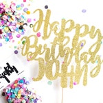 Custom Happy Birthday Cake Topper, Birthday Crown, Birthday Cake, Birthday Party, Birthday Banner, Birthday Candle, Candle, Birthday Topper