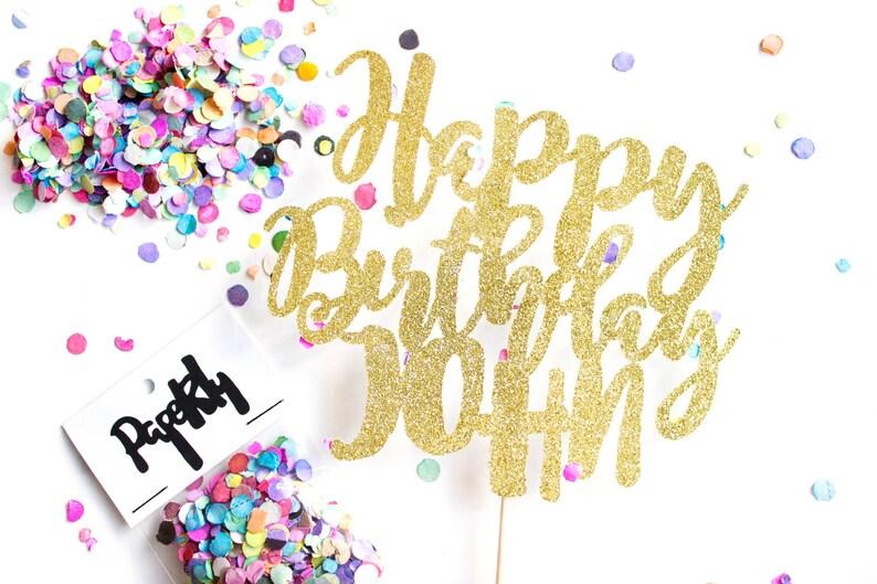 Custom Happy Birthday Cake Topper Birthday Crown Birthday image 0