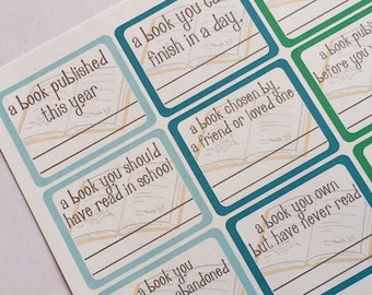 F010--2016 Reading Challenge Planning Stickers for the Erin Condren Vertical ECLP or Happy Planner