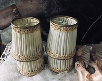 Simply divine french creme boudoir lamp shades,brocante,france