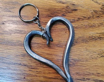 Forged Heart Key Chain