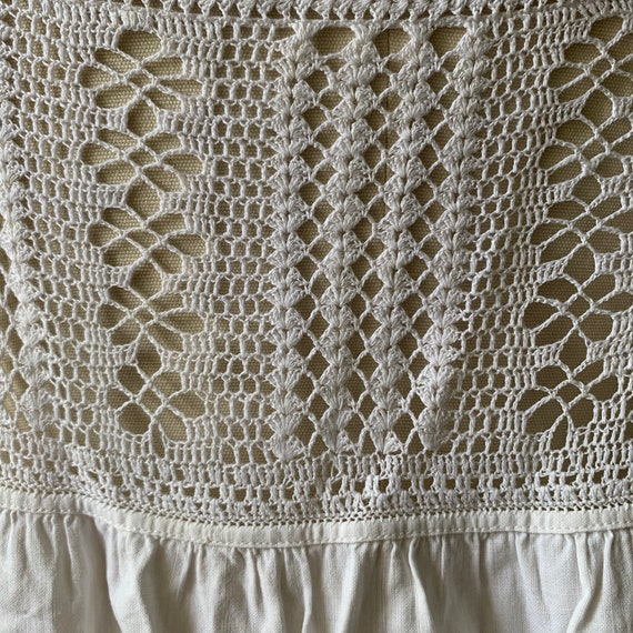 Vintage white cotton & lace camisole - image 5
