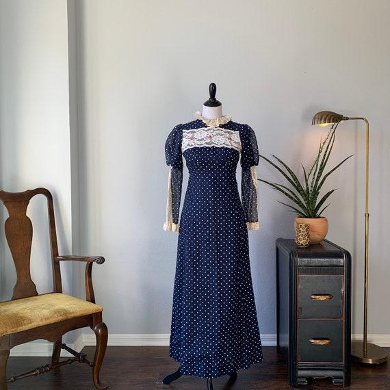Vintage 1960's polka dot prairie dress