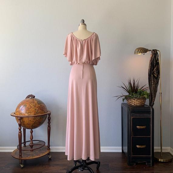 Vintage 1970's dusty pink disco dress - image 3