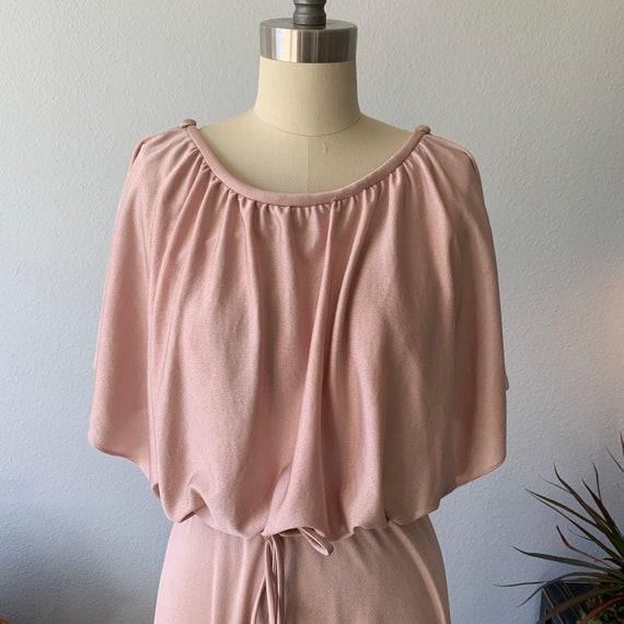 Vintage 1970's dusty pink disco dress - image 5