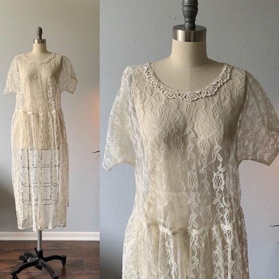 Vintage 1940's lace dress