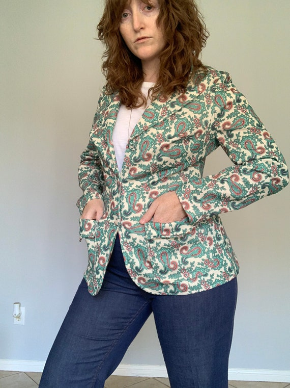 Vintage 1970's paisley blazer