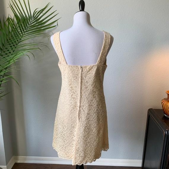 Vintage 1960s mod mini wedding dress - image 5