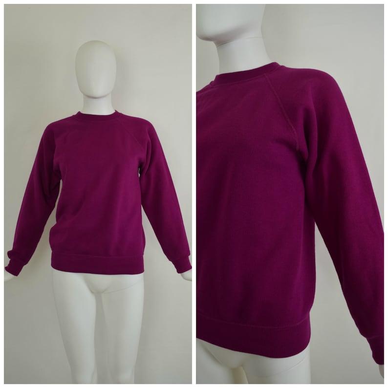 Size XSS Vintage 90s Hanes Fuchsia Sweatshirt