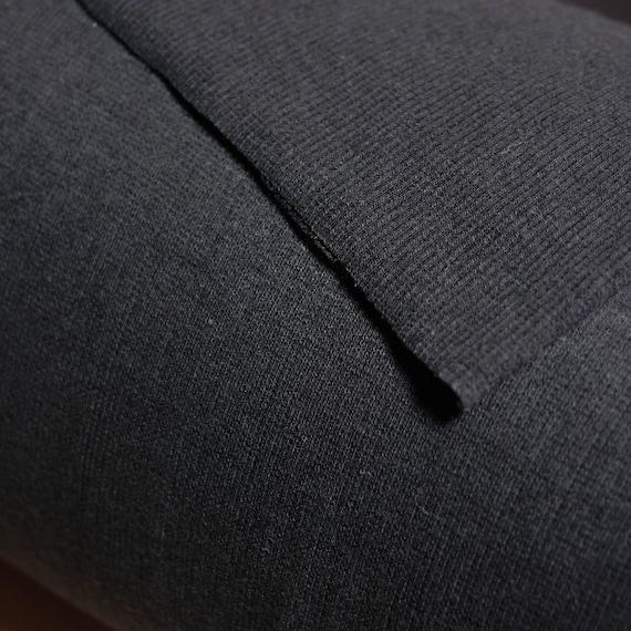 Schwarzer Bambus Baumwolle Die Elasthan 2 X 2 Rippe Stoff Von Etsy