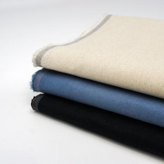 Linen Dress Fabric Black Organic Cotton Organic Linen Fabric by 0.5 Metre Apparel Fabric Black Linen Fabric