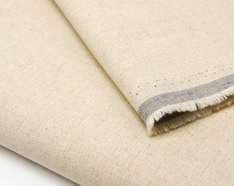 Linen Organic Cotton Fabric by 0.5 Metre, Natural Linen Fabric, Natural Undyed Fabric, Linen Fabric, Organic Cotton Fabric