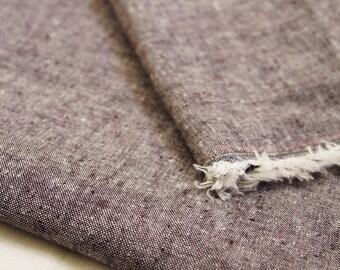 Charcoal Chambray Organic Linen Organic Cotton Fabric, Organic Cotton Fabric, Organic Linen Fabric, Chambray, Apparel Fabric, Eco-Friendly