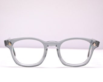 7f418be3563 Vintage 1950 s 60 s AMERICAN OPTICAL Flexi-Fit Z87 Grey Eyeglasses   Retro  Collectable Rare  1878
