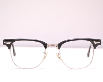 ba9f4099c8e Vintage 1950 s 60 s ART CRAFT Clubmaster Style Eyeglasses   Gold Filled    Retro Collectable Rare  1890