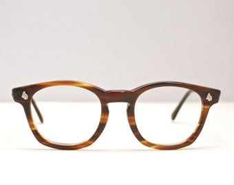3905ca208e2 Vintage 1950 s 60 s Tortoise AMERICAN OPTICAL Flexi-Fit Eyeglasses    Saratoga Style   Retro Collectable Rare  1855