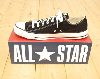 1b7a9e59b39a Vintage 1990 s Deadstock Black CONVERSE CHUCK TAYLOR Lo-Top Sneakers   Size  13   Made in U.S.A.   Retro Collectable Rare