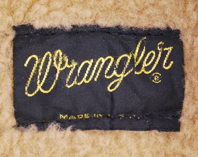 Vintage 1970/'s WRANGLER Fleece Lined Denim Jean Jacket  Made in U.S.A Retro Collectable Rare