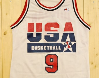 Vintage 1992 MICHAEL JORDAN Team USA Basketball Jersey / Tank Top / Champion / Retro Collectable Rare