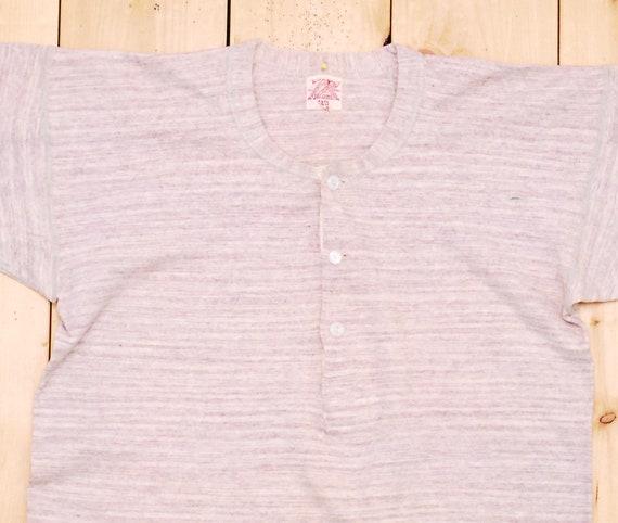 Vintage 1940's/50's PENMAN'S Henley T-Shirt / Ret… - image 2