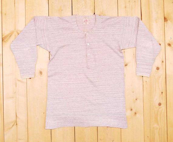 Vintage 1940's/50's PENMAN'S Henley T-Shirt / Ret… - image 1