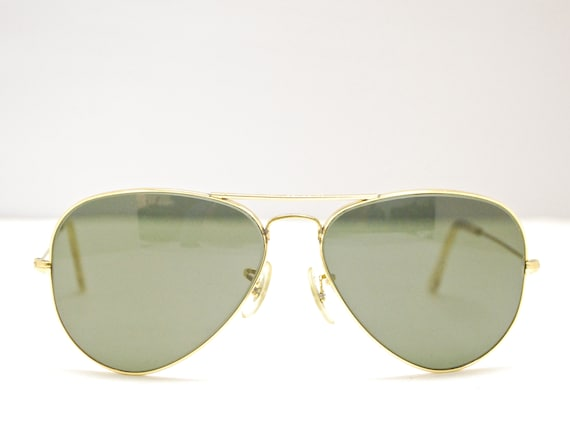 Vintage RAY BAN lunettes de soleil aviateur   G15   Made in   Etsy ef03df8ad4b1