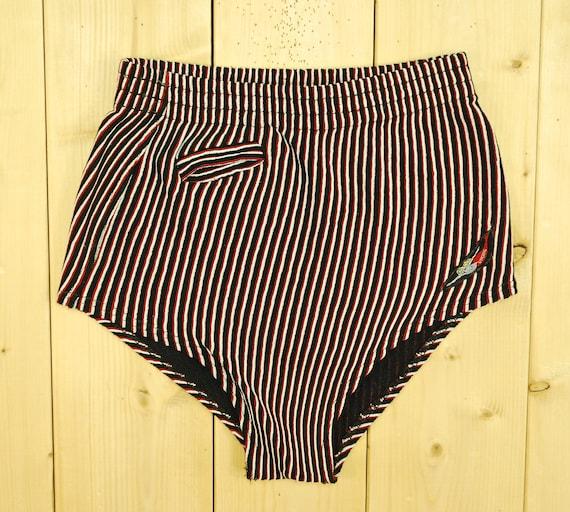 Vintage 1940's/50's VIKING Striped Swim Suit / Fro