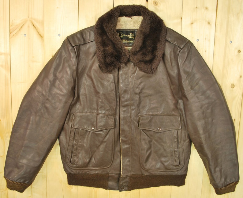 acdacf0ca Vintage 1960's/70's SEARS Leather G1 Style Bomber Jacket / Retro  Collectable Rare