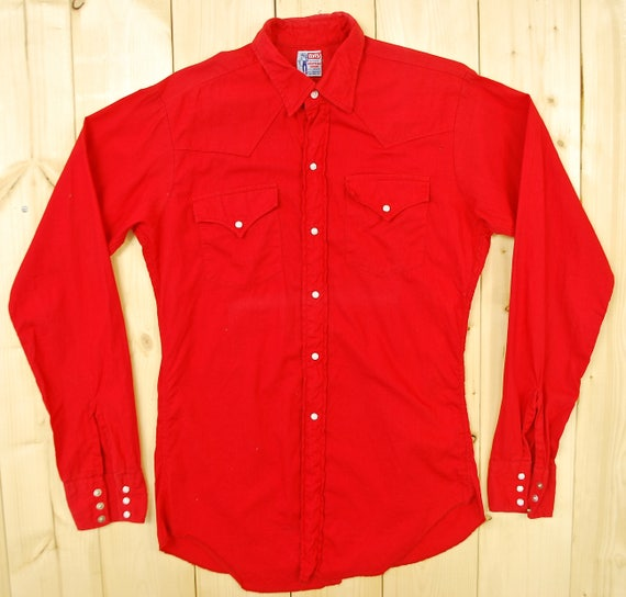 Vintage 1950's/60's Red LEVI STRAUSS Western Shirt