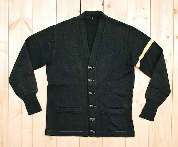Vintage 1950's/60's Wool Hunter Green VARSITY LET… - image 1