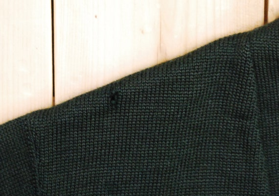 Vintage 1950's/60's Wool Hunter Green VARSITY LET… - image 3